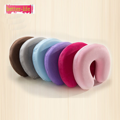 U-shaped pillow memory cotton slow rebound automotive supplies cervical pillow travel neck pillow purple