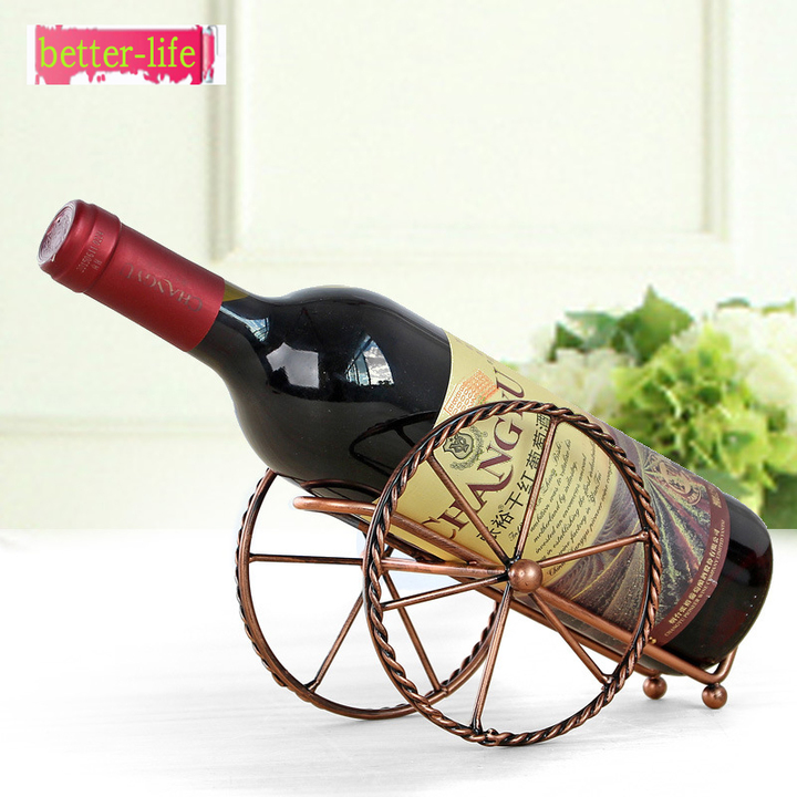 Creative European Metal Wine Decoration Wrought Iron Wine Rack