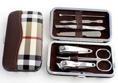 Nail scissors set to decorate a set manicure knife tool kit white