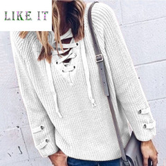 Sexy lace casual sweater lady's jacket White S