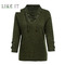 Sexy lace casual sweater lady's jacket Military green M
