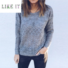 Front and back can wear solid color cardigan sweater Grey xl