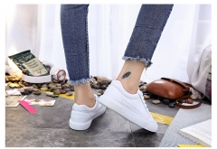 Ursmrat 1 Pairs PU Plus Size 35-40 Comfortable Flat White Shoes Sneakers Shoes Women Footwear white 38