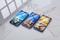 "5.0""HD beautiful phones Dual SIM 1G+8G smartphone BLUE"