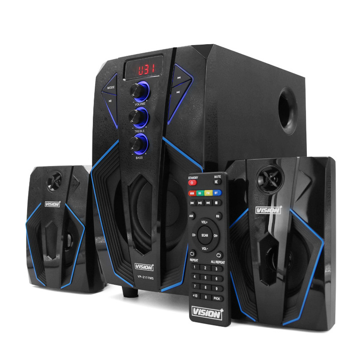Vision Plus 2.1CH Speaker with Subwoofer Bluetooth black 45W VP2111MS