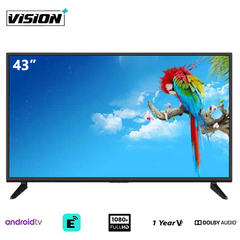 Vision Plus VP8843S - 43 Inch Full HD 1080p Smart TV Android LED Television black 43''