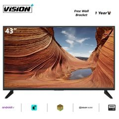 Vision Plus VP8843S - 43 Inch Full HD 1080p Smart TV Android tv LED Television black 43''