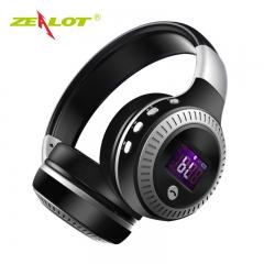 Zealot B19 Wireless Bluetooth Headphone Stereo Bass Earphone With Mic FM Radio TF Play LED Screen black&silver