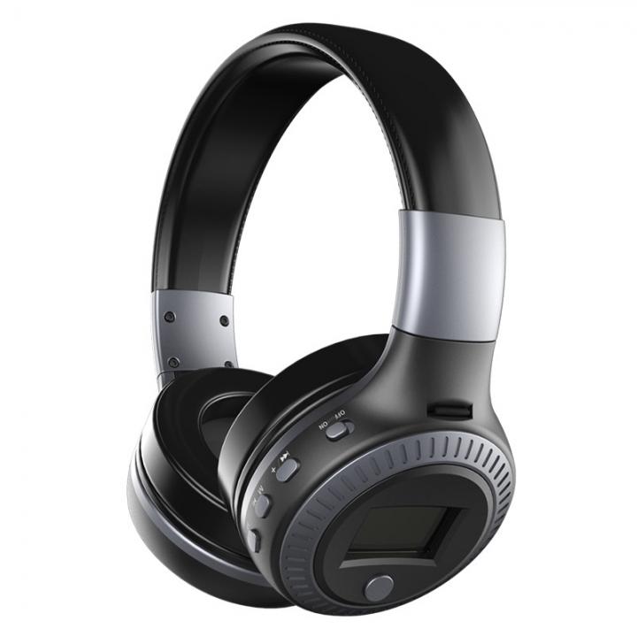 Zealot B19 Wireless Bluetooth Headphone Stereo Bass Earphone With Mic FM Radio TF Play LED Screen blcak&grey