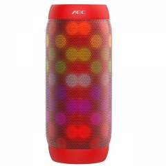 AEC BQ615PRO Wireless Bluetooth Speaker LED Colorful Audio Outdoor Portable Mini Subwoofer Universal red 50mm*50mm*150mm