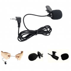 Lapel microphone Jack handsfree with cable Mini condenser microphone for all mobile phone black 3.5mm