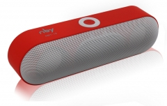 NBY-18 Mini Bluetooth Speaker Portable Wireless Speaker 3D Stereo Support Bluetooth, TF aux USB red 8cm*3cm*8cm