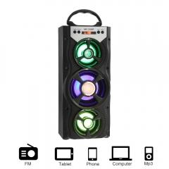 Mesuvida MS-220BT Portable Speaker FM Radio Speaker USB TF Card Slot black as show one size