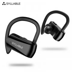 SYLLABLE/Selber D15 true wireless binaural Bluetooth headset hanging ear sports music black 2cm*2cm*1cm