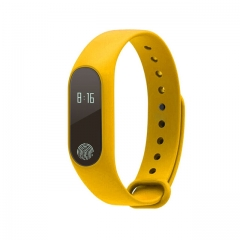 M2 smart bracelet touch screen heart rate monitoring sports smart step bracelet waterproof bracelet yellow normal