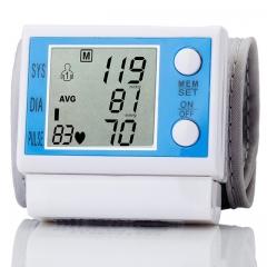English menu Type of wrist automatic smart home electronic sphygmomanometer measuring instrument blue family