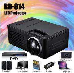 HD Multimedia Portable LED Projector Home Theater HDMI VGA AV USB SD Lamp Remote Control Projector black normal