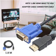 1.8 M 3M 5M 10M HDMI Cable HDMI To VGA 1080P HD With Audio Adapter Cable HDMI TO VGA Cable black 3m