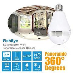 360 Degree Panoramic 960P Hidden WiFi Camera Light Bulb Mini Security IP Camera white normal