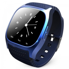 M26 Bluetooth Smart Watch wristwatch smartwatch SMS Remind Music Player Pedometer for Smartphone blue one size