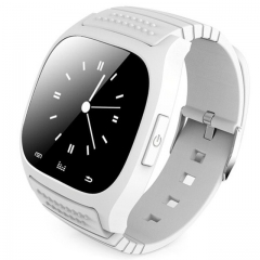 M26 Bluetooth Smart Watch wristwatch smartwatch SMS Remind Music Player Pedometer for Smartphone white one size