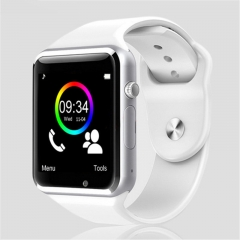 A1 WristWatch Bluetooth Smart Watch Sport Pedometer with SIM Camera Smartwatch For Android white one size