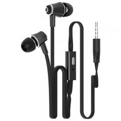 JM21 In-ear Earphone Colorful Headset Hifi Earbuds Bass Earphones for iPhone 6 6S Xiaomi Black