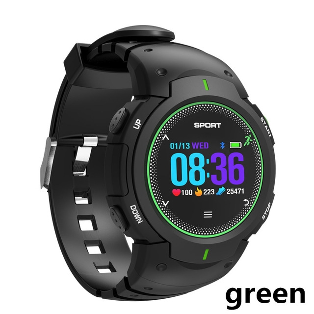 DTNO.1 F13 smart watch 50M waterproof sports watch sports tracker for IOS / Android PK smart watch green one size