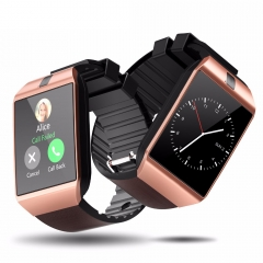 Cawono Bluetooth DZ09 Smart Watch Relogio Android Smartwatch Phone Call SIM TF Camera for IOS iPhone brown DZ09