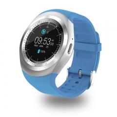 696 Bluetooth Y1 Smart Watch Relogio Android Smartwatch Phone Call SIM TF Camera blue DZ33