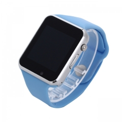 A1 WristWatch Bluetooth Smart Watch Sport Pedometer with SIM Camera Smartwatch For Android, blue MTK6261