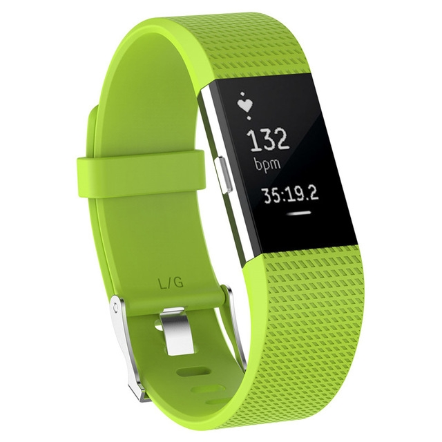 Wristband Wrist Strap Smart Watch Band Strap Soft Watchband Replacement Smartwatch Band For Fitbit green YURIE2