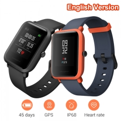 English Version Xiaomi Bip Smart Watch Huami GPS Heart Rate Smartwatch Pace Lite 45 Days Battery black Bip
