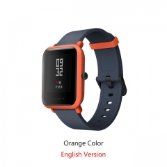 English Version Xiaomi Bip Smart Watch Huami GPS Heart Rate Smartwatch Pace Lite 45 Days Battery blue + orange Bip