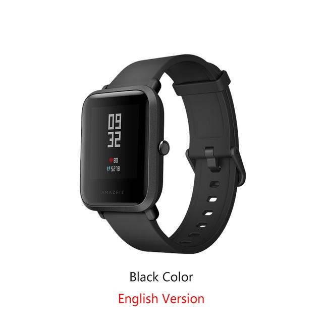English Version Xiaomi Bip Smart Watch Huami GPS Heart Rate Smartwatch Pace Lite 45 Days Battery black Bip