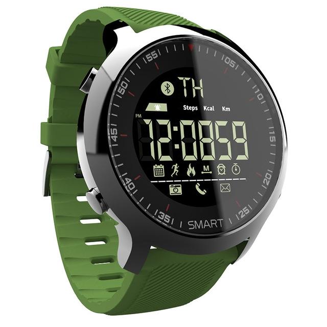 Bluetooth Smart Watch Sport pedometer Waterproof Call Reminder digital men Wearable Devices green LOK5