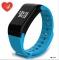 F1 Sleep Tracker Smart Bracelet Heart Rate Monitor Waterproof Smart Watch Activity Tracker blue F1