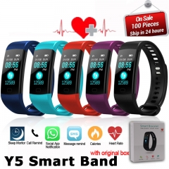 Smart Band Color Screen Wristband Heart Rate Activity Fitness tracker Smart Electronics Bracelet black t15