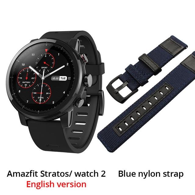 Smart Watch Sport Watch Bluetooth GPS Smartwatch Heart Monitor 11 Kinds Sport Mode 50M Waterproof blue FSF3