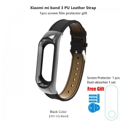 E-ZONE Bracelet Strap For Mi Band 3 Wrist Band MiBand 3 Smart Watch Strap Belt Stainless Screwless black BA