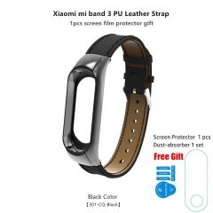 E-ZONE Bracelet Strap For Mi Band 3 Wrist Band MiBand 3 Smart Watch Strap Belt Stainless Screwless black BA