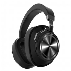 T6 Active Noise Cancelling Headphones Wireless Bluetooth Headset with microphone for phones black