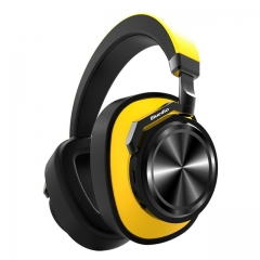 T6 Active Noise Cancelling Headphones Wireless Bluetooth Headset with microphone for phones yellow