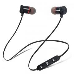 Motion wireless bluetooth headsets anti-perspiration magnetic headsets stereo headphones Type 2 Silvery + box
