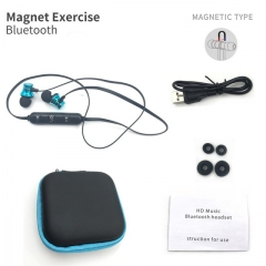 Motion wireless bluetooth headsets anti-perspiration magnetic headsets stereo headphones Type 2 blue + box