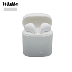 i7s Bluetooth Earbuds Wireless Headphones Headsets Stereo In-Ear Earphones With Charging Box white