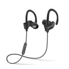 bluetooth earphone wireless bluetooth headphone sport headset waterproof bass with mic black