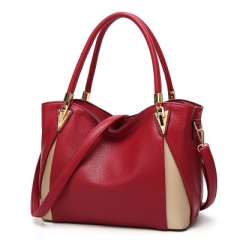 Newest Women Handbags Composite Lady Shoulder Crossbody Wallet Bag PU Leather Bags Red One Size