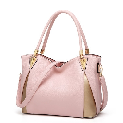Newest Women Handbags Composite Lady Shoulder Crossbody Wallet Bag PU Leather Bags Pink One Size
