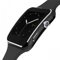 X6 camera touch screen smart watch support bluetooth smart watches SIM TF card black x6